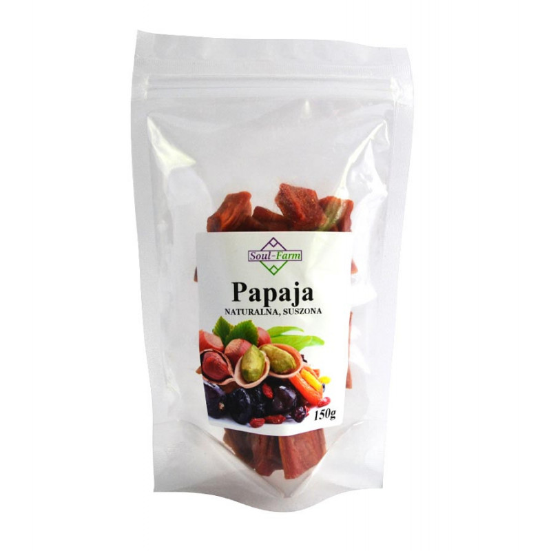 Papaja suszona naturalnie 150g / Soul-Farm