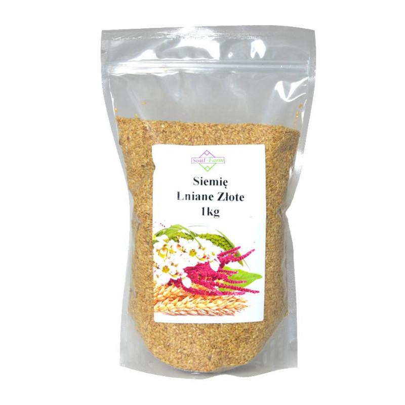 Siemię Lniane Złote (len złocisty) 1kg / Soul-Farm