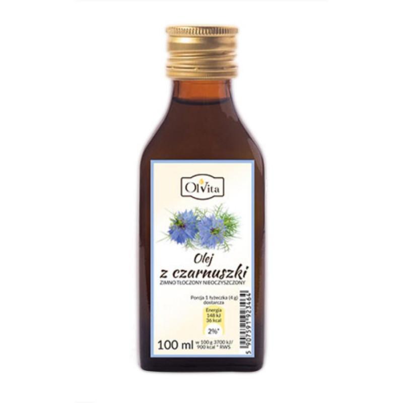 """Olej z czarnuszki tłoczony na zimno, nieoczyszczony 100ml / Ol""""Vita"""