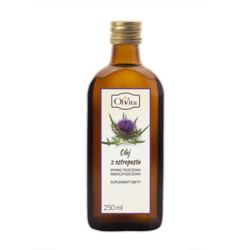 Olej z nasion ostropestu, nieoczyszczony, tłoczony na zimno 250ml / Ol''Vita