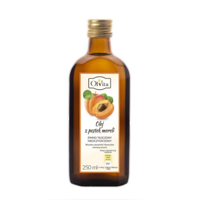 Olej z pestek moreli zwyczajnej, nieoczyszczony, tłoczony na zimno olej morelowy 250ml / Ol''Vita