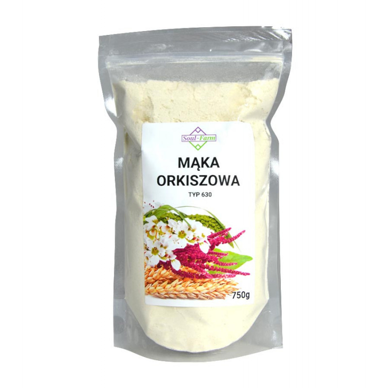 Mąka Orkiszowa typ 630, 750g / Soul-Farm