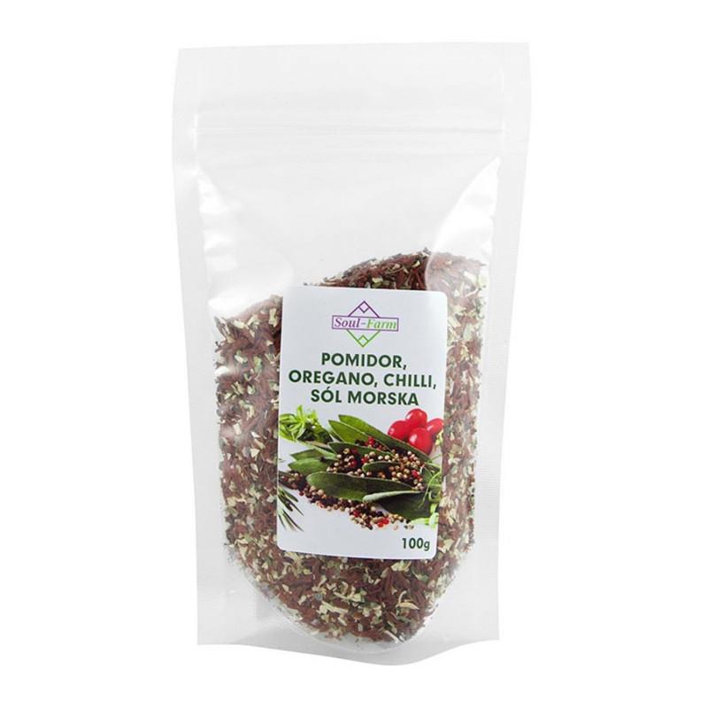 Pomidory Suszone, Oregano, Sól Morska i Chilli 100g / Soul-Farm