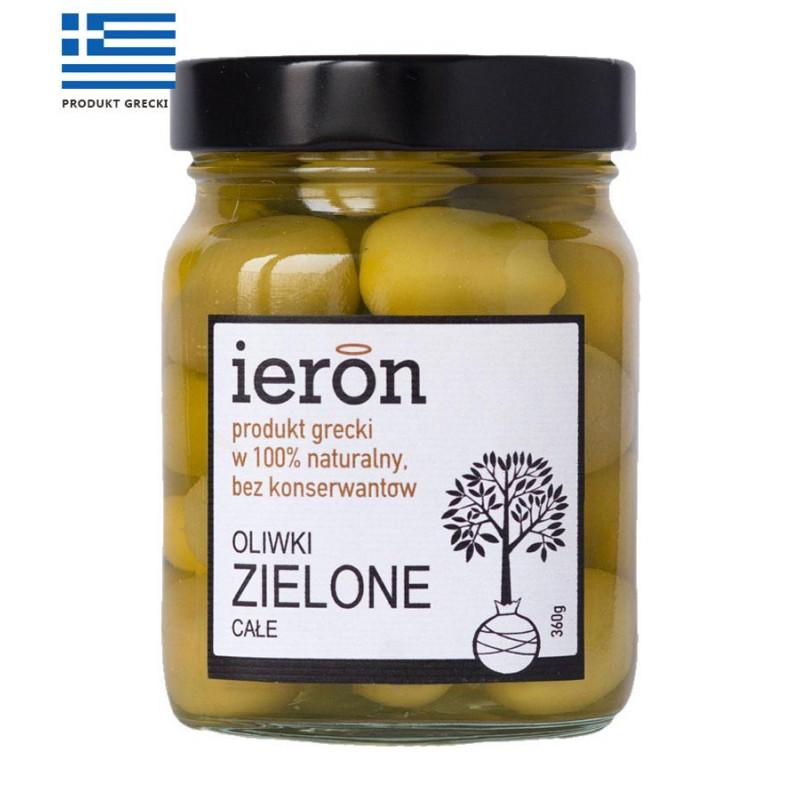 Oliwki greckie zielone z pestką 360g, IERON