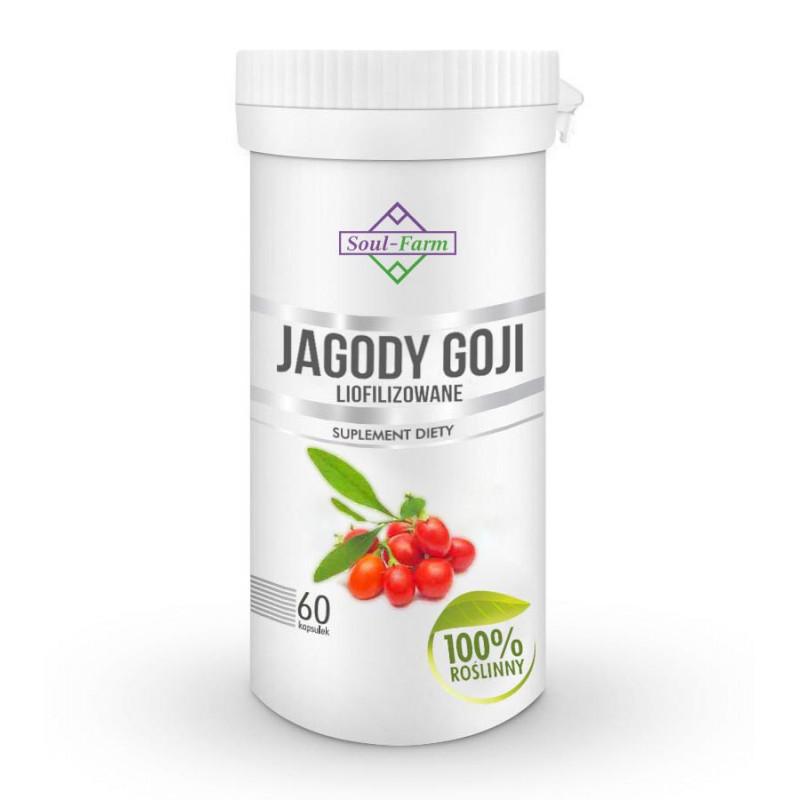 JAGODY GOJI LIOFILIZOWANE 670mg, 60 kapsułek PREMIUM  / Soul-Farm