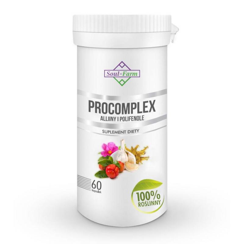 PROCOMPLEX ALLINY I POLIFENOLE 540mg, 60 kapsułek PREMIUM  / Soul-Farm