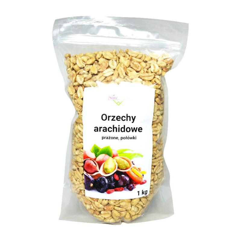 Orzechy arachidowe, orzeszki ziemne prażone połówki, bez soli 1kg / Soul-Farm