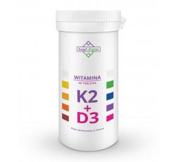 Witamina K2MK7 pozyskana poprzez fermentację NATTO oraz Witamina D3 pozyskana z lanoliny z owczej wełny