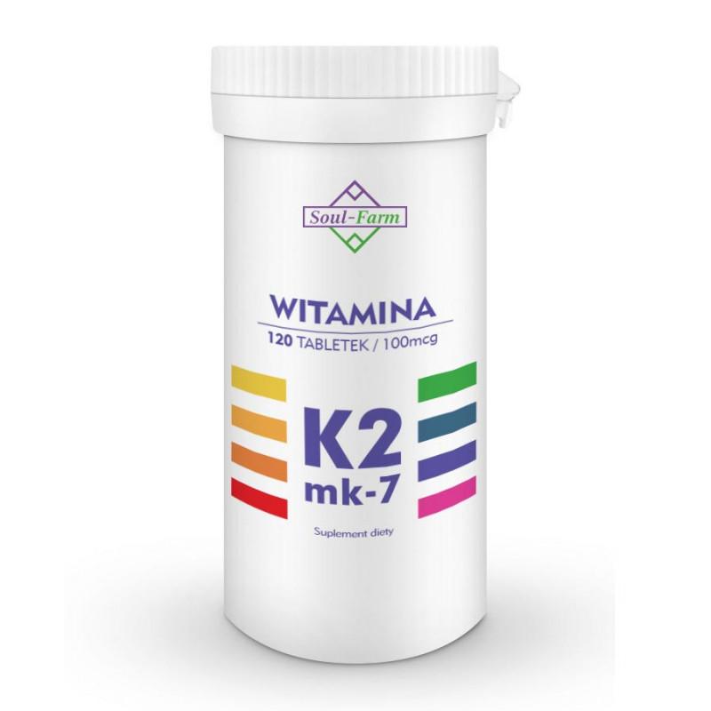 Witamina K2 MK-7 120 tabletek / Soul-Farm