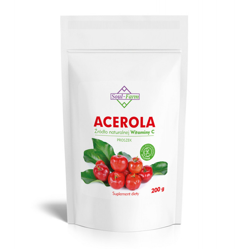 Acerola ekstrakt 10:1, 25% witaminy C, 200g Soul-Farm