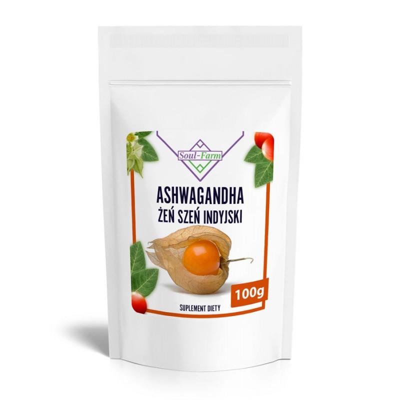 Ashwagandha ekstrakt 4:1, opakowanie 100g, Soul-Farm