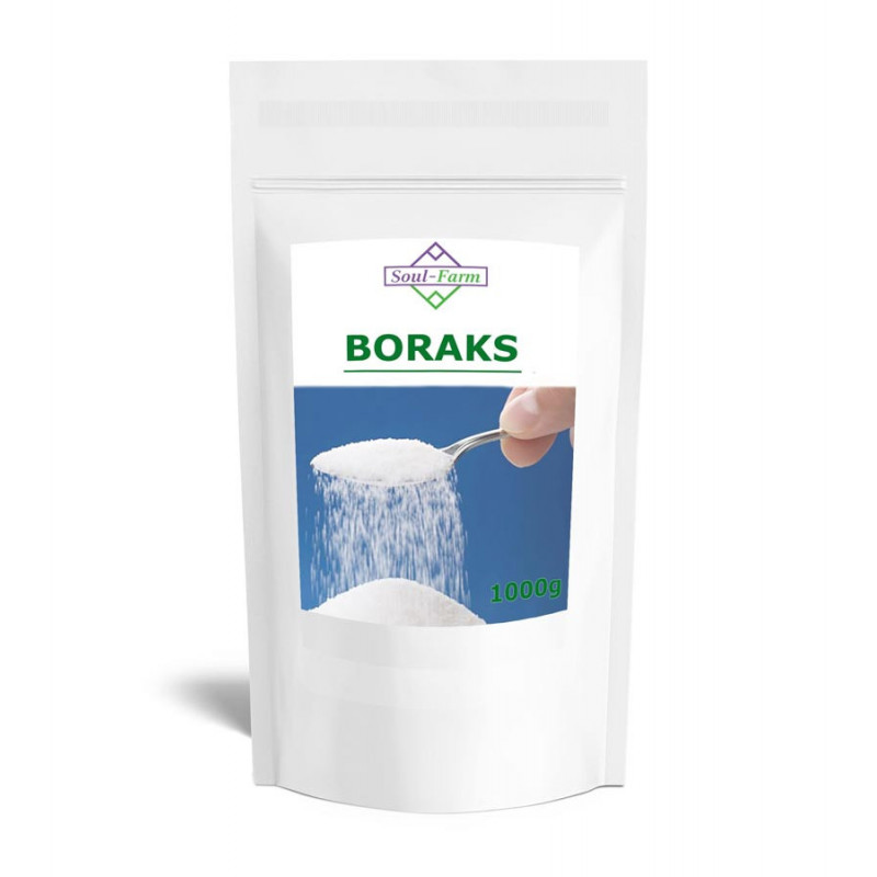 Boraks, Borax, Czteroboran sodu dziesięciowodny 1kg / Soul - Farm