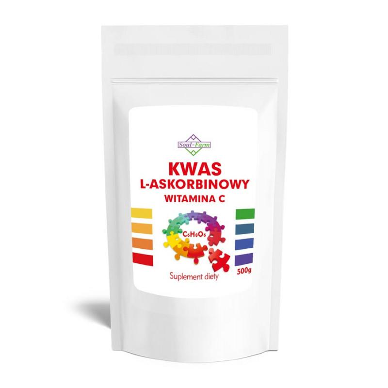 Kwas L- Askorbinowy 500g - Witamina C / Soul-Farm