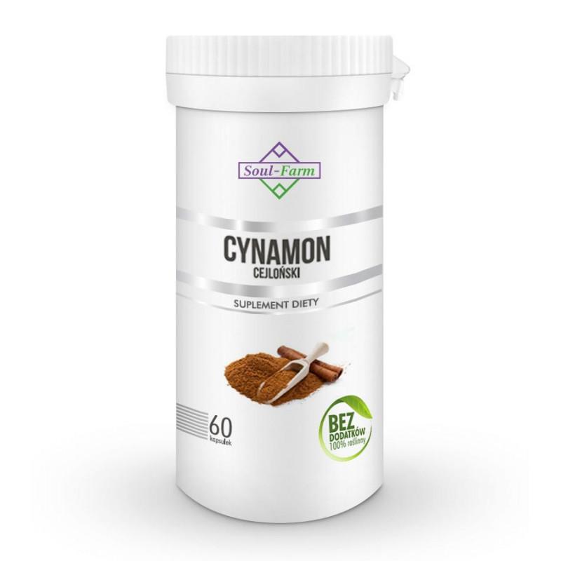 Cynamon cejloński w kapsułkach, 60 kapsułek PREMIUM / Soul-Farm