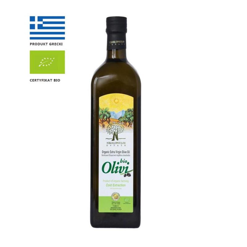 Grecka oliwa z oliwek OLIVI BIO, extra virgin, 1l
