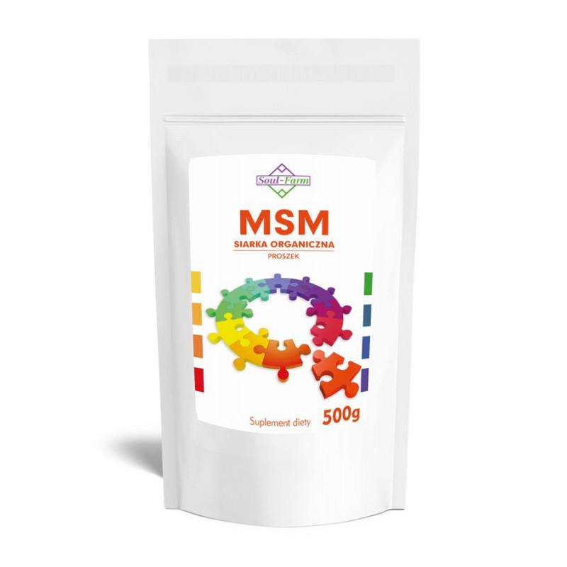MSM, SIARKA ORGANICZNA, 500g / Soul-Farm