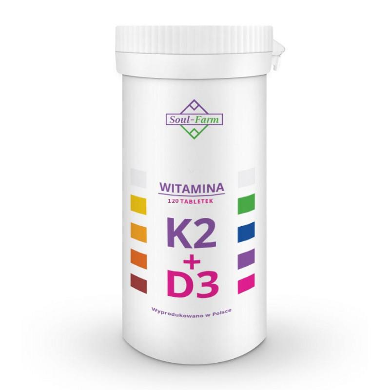 Witamina K2+D3 120 tabletek / Soul-Farm