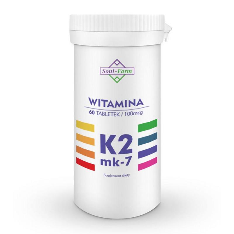 Witamina K2 MK-7, 60 tabletek / Soul-Farm
