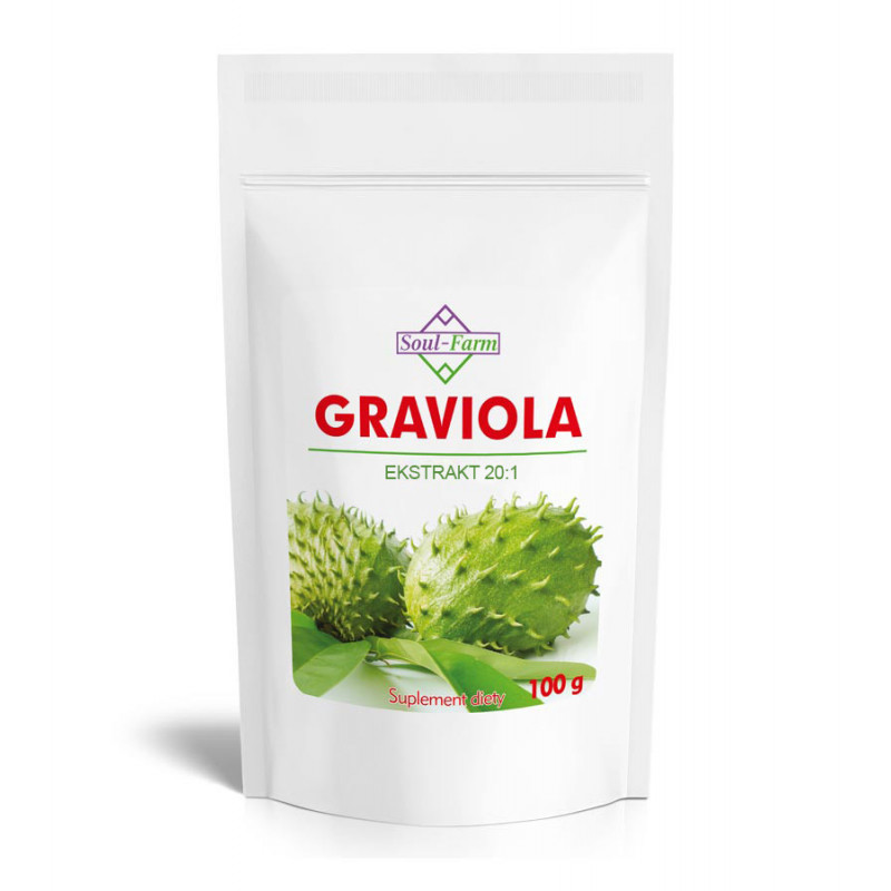 Graviola owoc ekstrakt 20:1, 10% flawonoidów, 100g / Soul-Farm