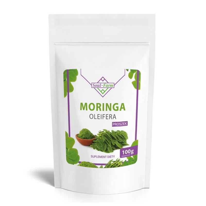 MORINGA OLEIFERA, liść mielony 100g / Soul-Farm