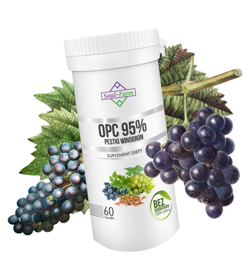 Silny ekstrakt z pestek winogron - opc 95% soul-farm